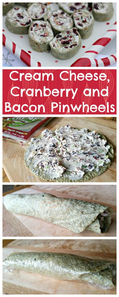 Cream Cheese, Cranberry and Bacon Pinwheels