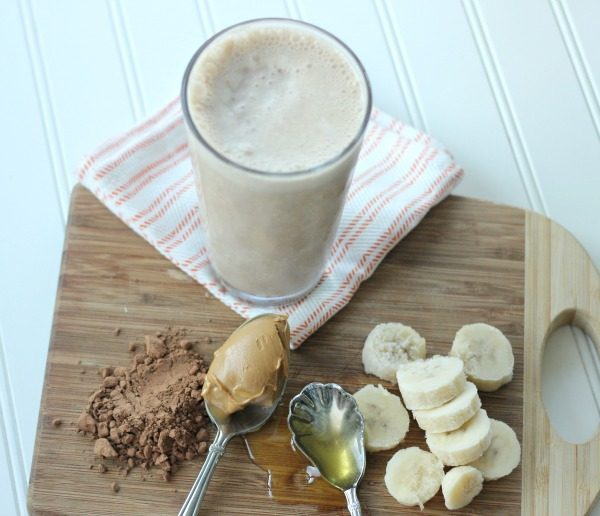 All Natural Chocolate Peanut Butter Smoothie