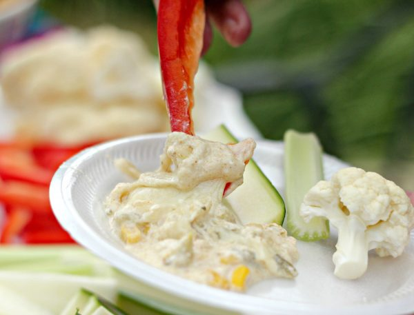 Skinny Hot Chile and Corn Dip - the perfect party food!