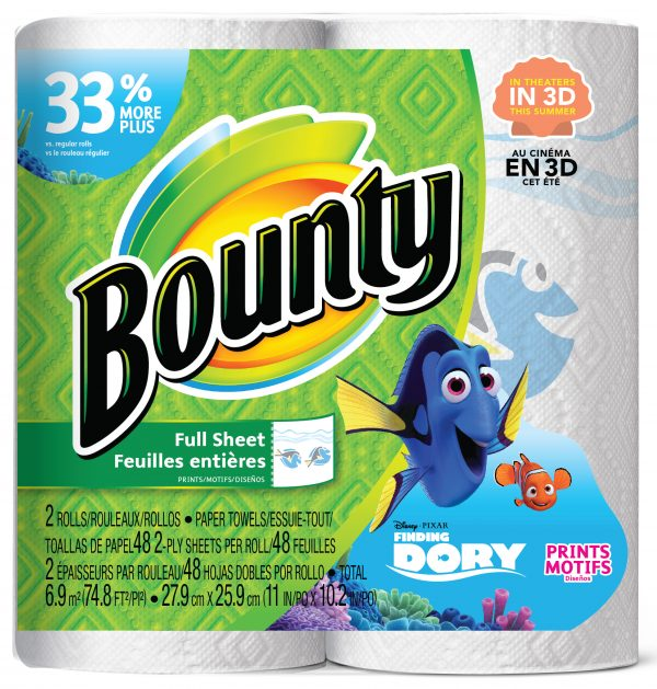 Finding Dory printed Paper Towels and Napkins from Bounty