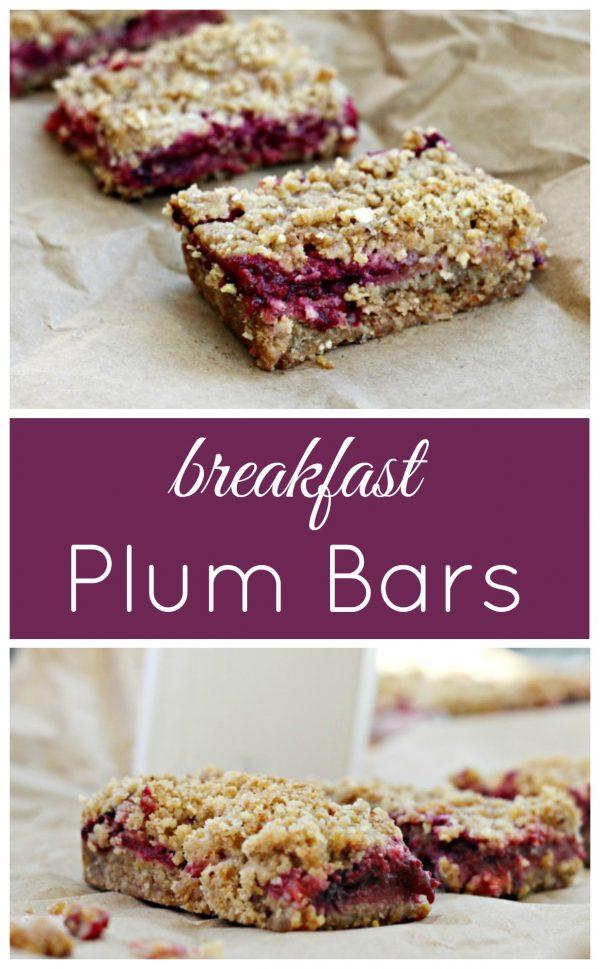 Plum Breakfast Bars for an easy breakfast on the go.