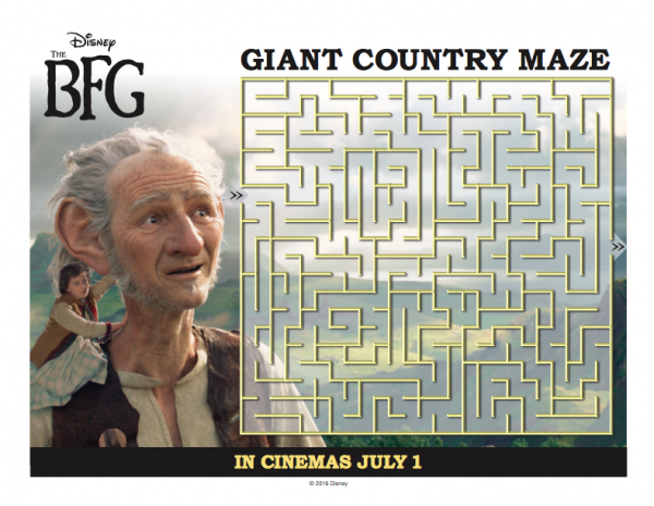 The BFG Giant Country Maze
