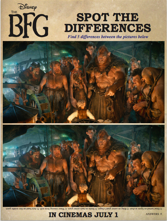 The BFG Spot the Differences Activity