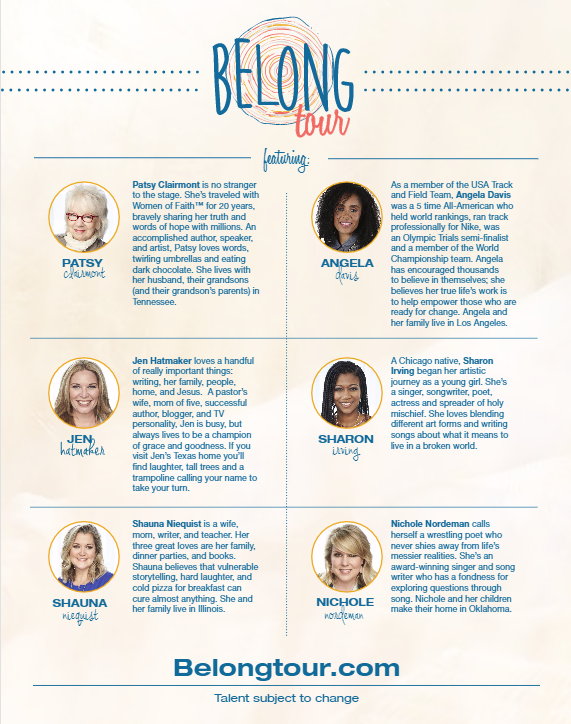 Belong Tour Speakers and Bios