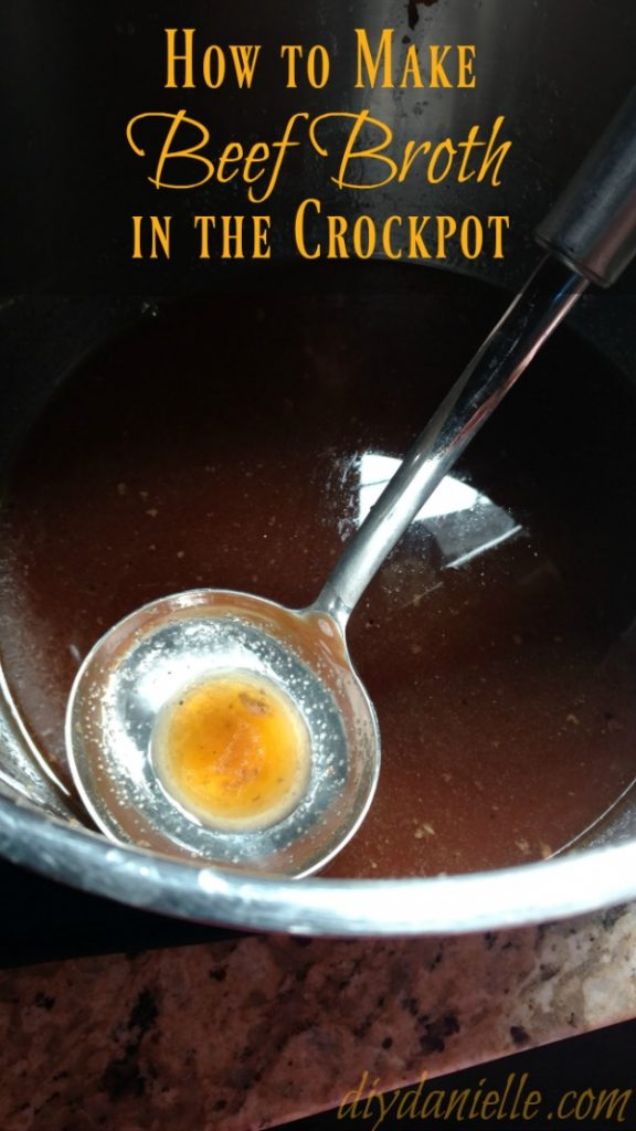 How to Make Beef Broth in the Crock Pot from DIY Danielle