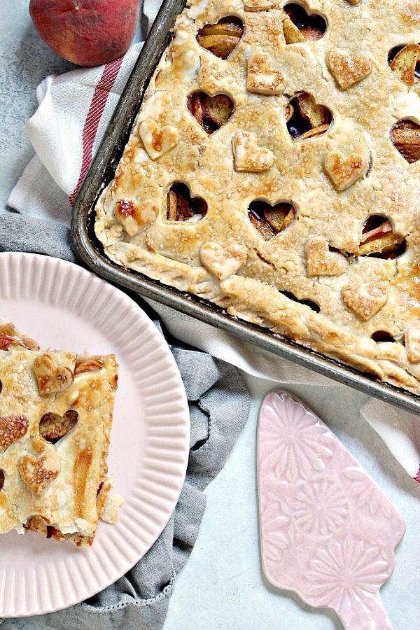 Rustic Peach Slab Pie from Cravings of a Lunatic