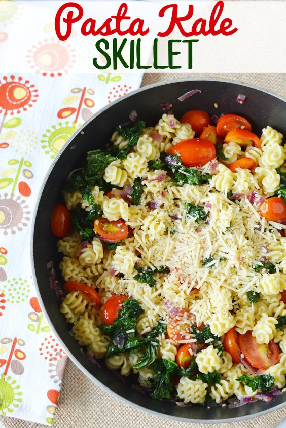 Pasta Kale Skillet from This Mama Loves