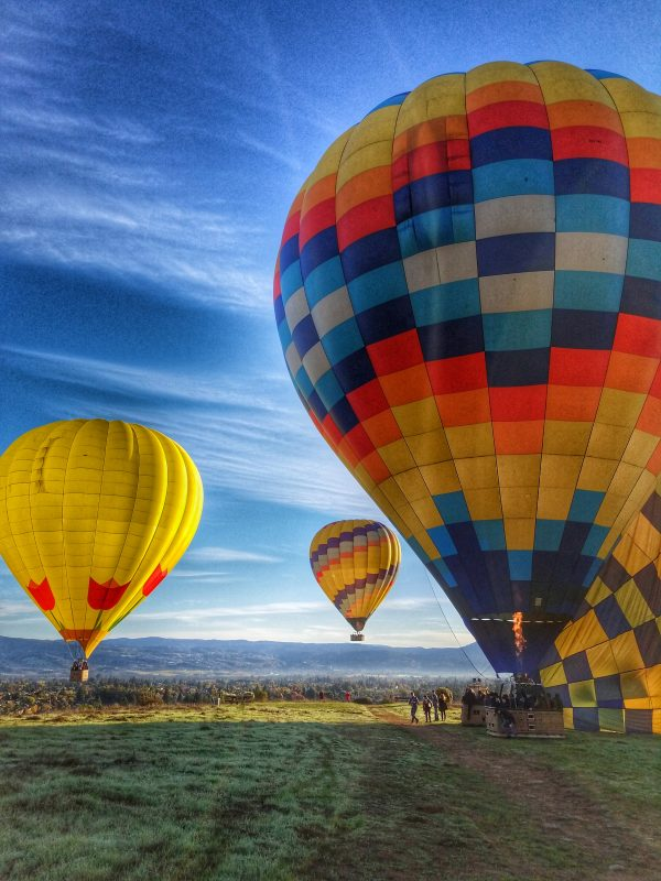 Up Up and Away: Hot Air Balloons Over Napa Valley