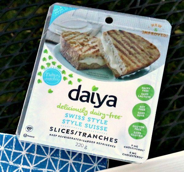 "Daiya Swiss Style Slices for a Vegan ""cheese"" in my Vegan Mediterranean Panini"