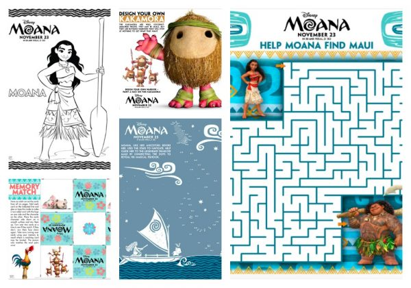 graphic about Moana Sail Printable named Free of charge Printable Moana Game Sheets and Coloring Internet pages