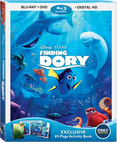 Finding Dory with Bonus Features on Blu-ray Today