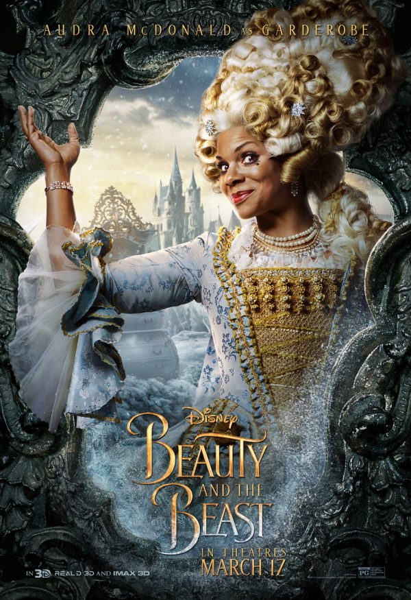 Audra McDonald as Garderobe in Beauty and the Beast