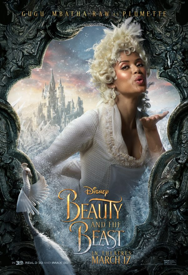Gugu Mbatha-Raw as Plumette in Beauty and the Beast