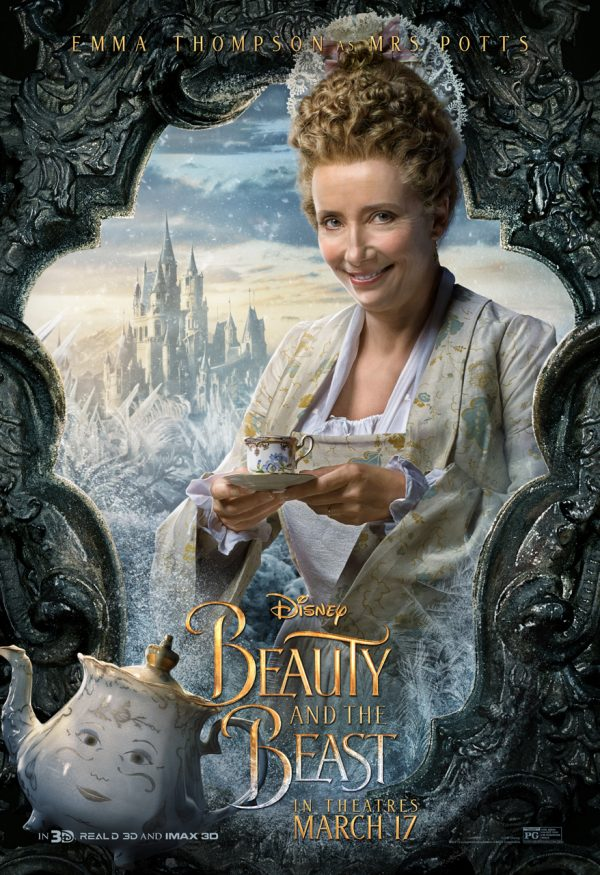 Emma Thompson as Mrs. Potts in Beauty and the Beast
