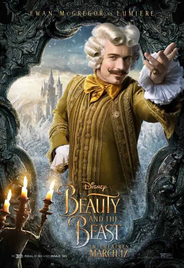 Ewan McGregor as Lumiere in Beauty in the Beast