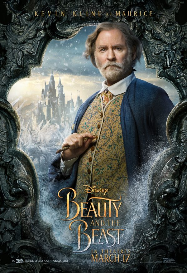 Kevin Kline as Maurice in Beauty in the Beast