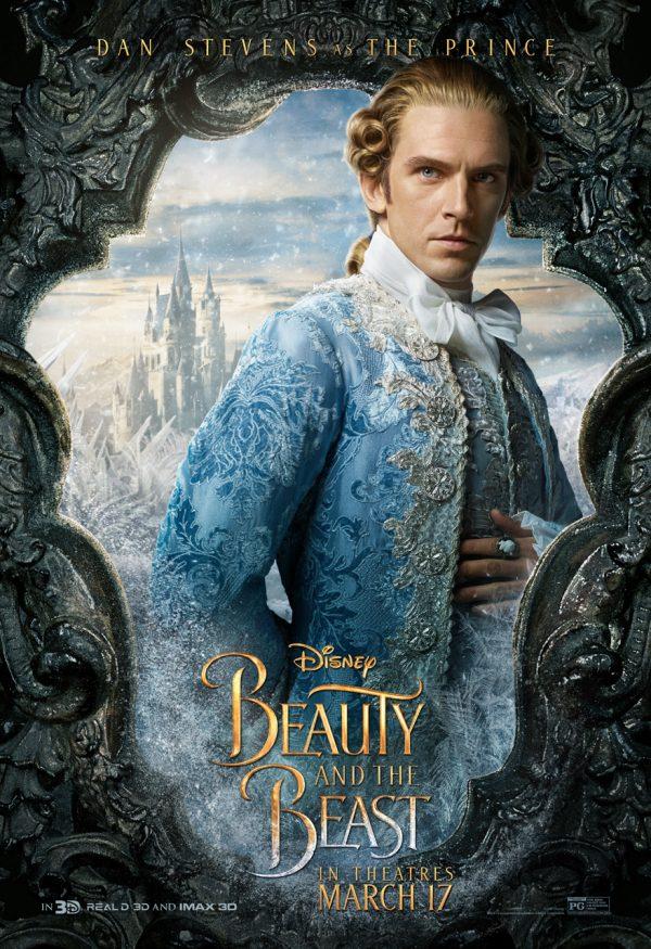 Dan Stevens as The Prince in Beauty in the Beast