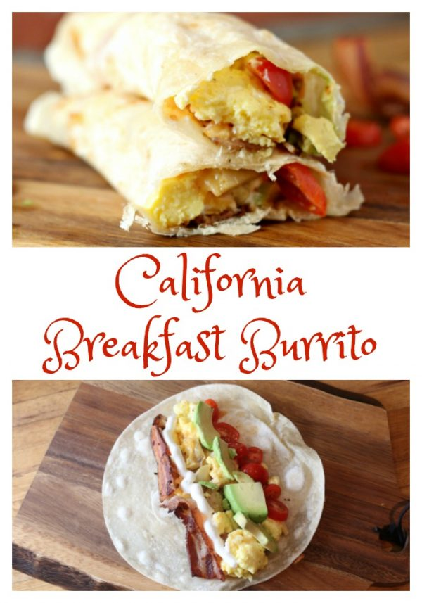 California Breakfast Burrito with TortillaLand Organic Uncooked Flour Tortillas