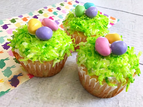 Easter Nest Cupcakes from A Cultivated Nest