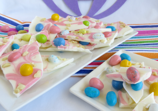 Macadamia Nut Easter Candy Bark from Woman of Many Roles