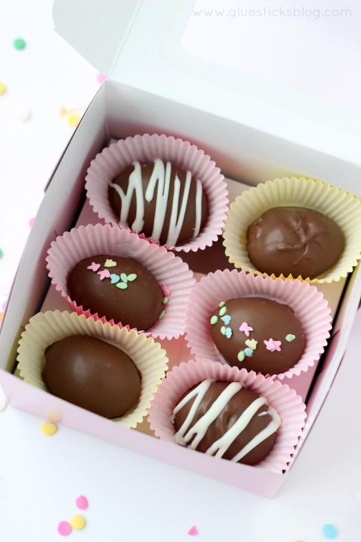 DIY Chocolate Easter Eggs from Gluesticks Blog