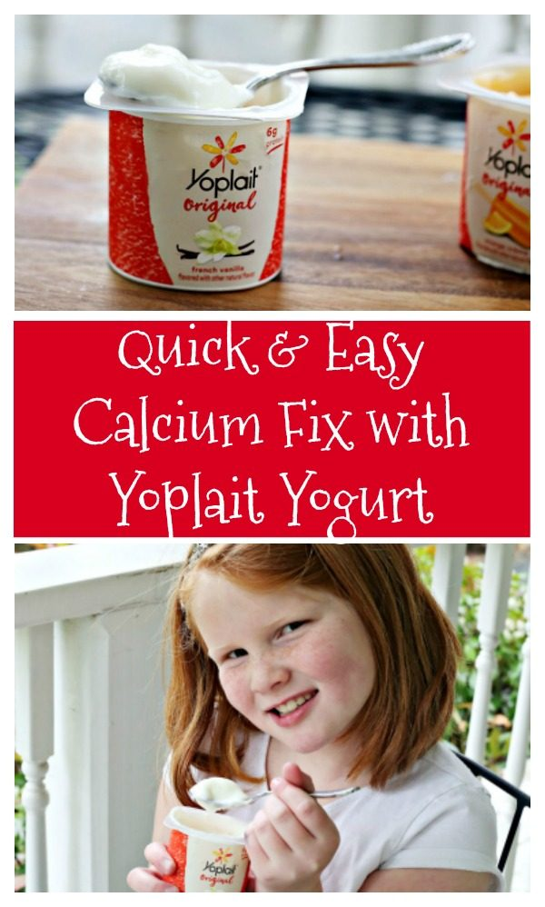 Quick and Easy Calcium Fix with Yoplait Yogurt