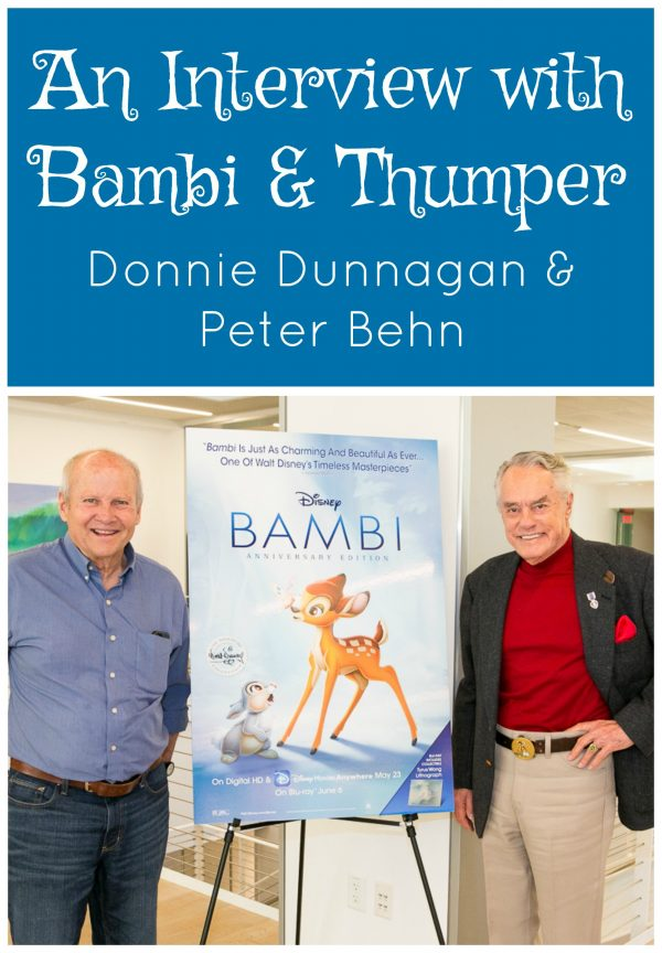 An interview with Bambi and Thumper voices, Donnie Dunnagan and Peter Behn