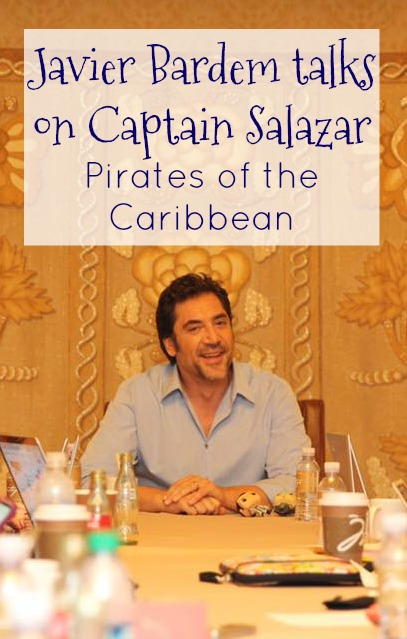 Javier Bardem as Captain Salazar in Pirates of the Caribbean Dead Men Tell No Tales