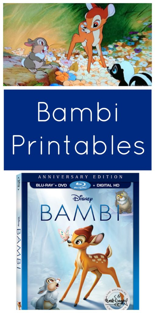Bambi Printables and Blu-ray Bonus Features
