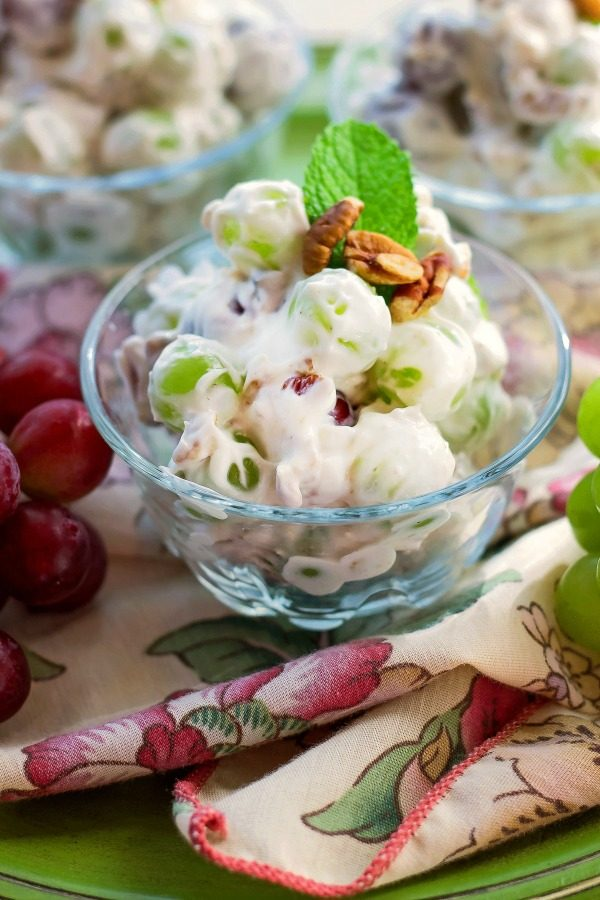 Creamy Delicious Grape Salad from Bunny's Warm Oven