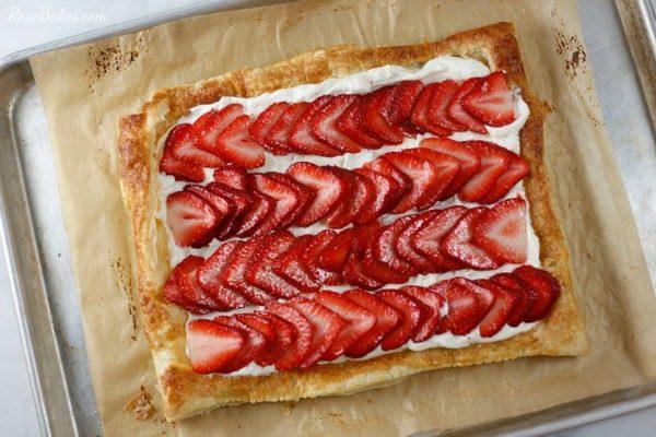 Strawberry Tart from Rose Bakes