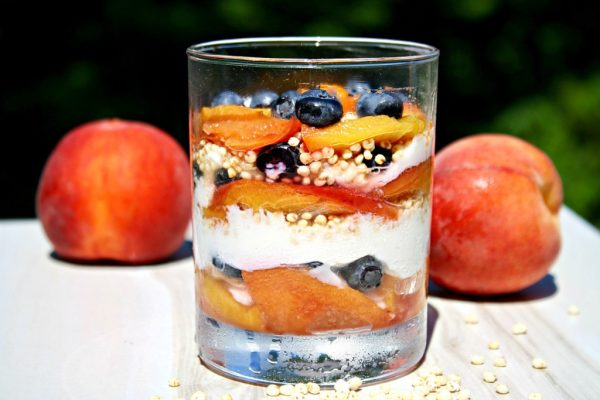 Ginger Roasted Peach Breakfast Parfaits from Looney for Food