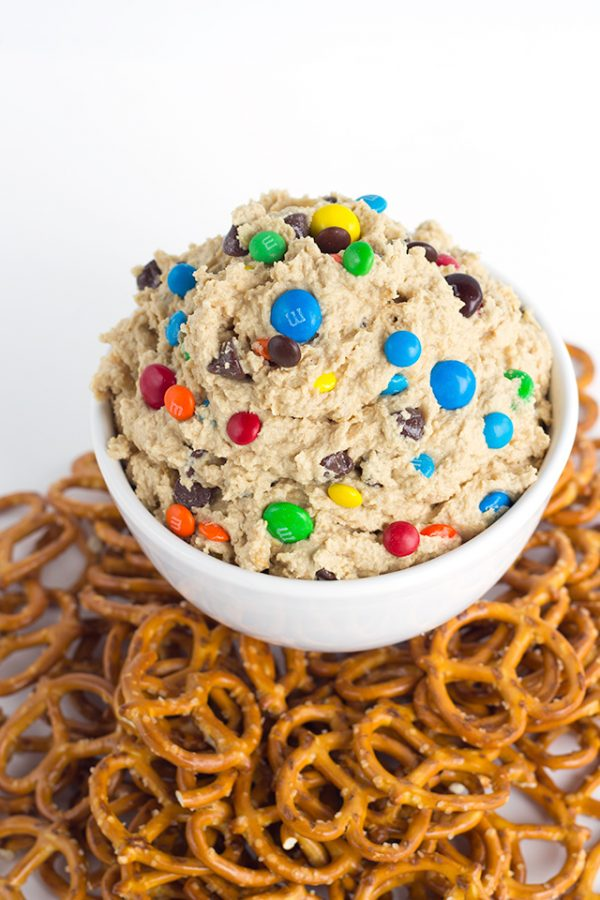 Monster Cookie Dough Dip from Cookie Dough and Oven Mitt