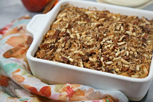 Morning Glory Baked Oatmeal from Cooking in Stilettos