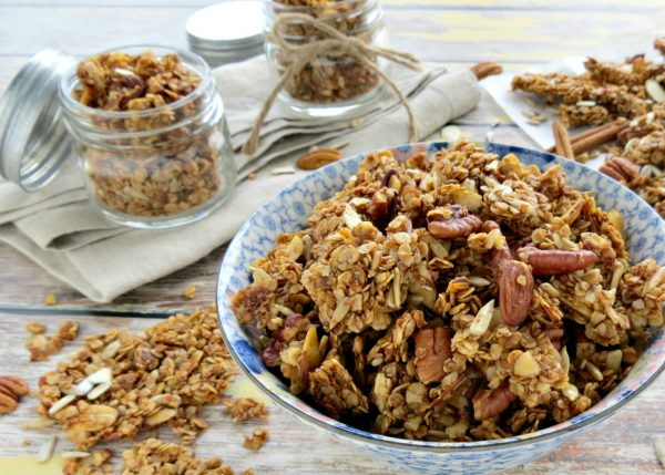 Nutty Homemade Granola Recipe from 5 Minutes for Mom