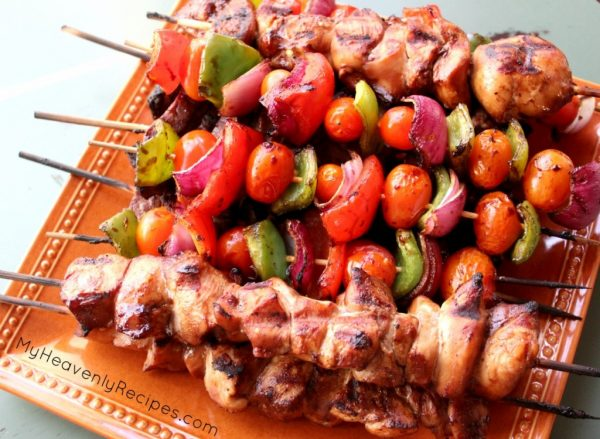 Steak and Chicken Kabobs from My Heavenly Recipes
