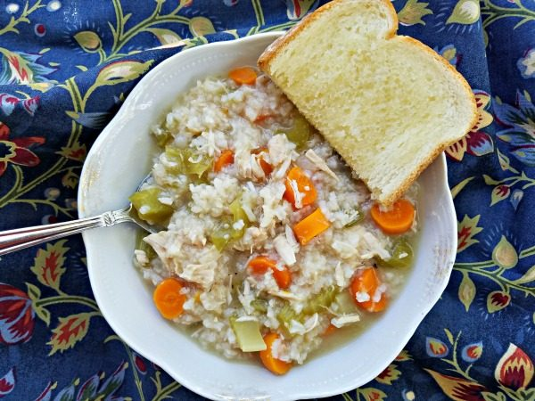 Easy Chicken and Rice Soup using leftover rotisserie chicken