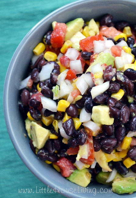 Avocado Corn Salsa from Little House Living