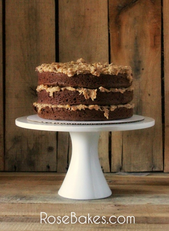 German Chocolate Cake from Rose Bakes
