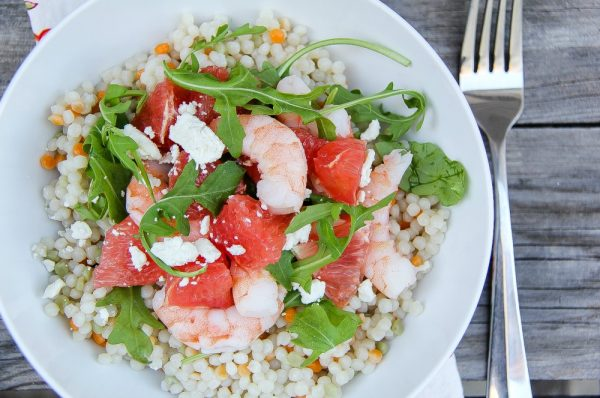 Grapefruit Shrimp Couscous Salad from 5 Minutes for Mom