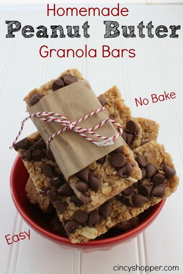 Homemade Peanut Butter Granola Bars from Cincy Shopper