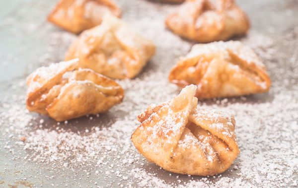 Apple Pie Wontons from Domestically Speaking