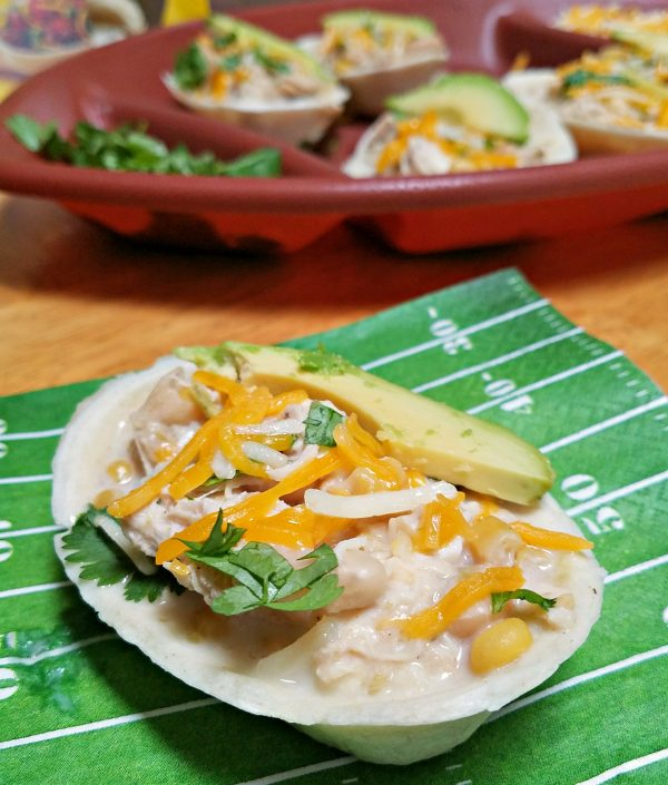 Instant Pot White Chicken Chili: Tailgating Chili Boats