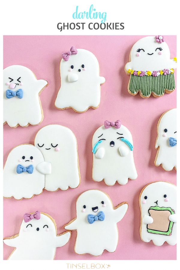 Halloween Ghost Cookies from Tinselbox