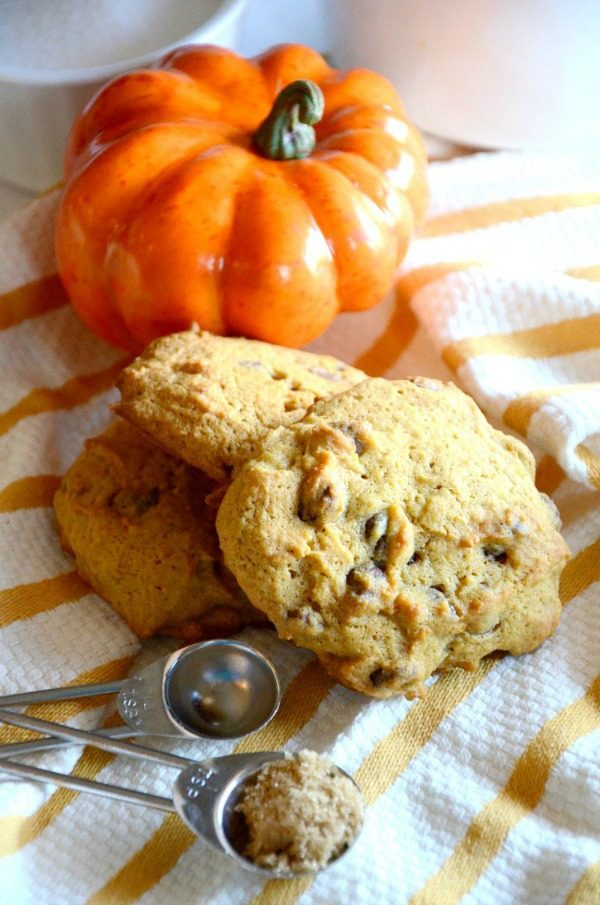 Pumpkin Chocolate Chip Cookies from Kid and Kin Blog