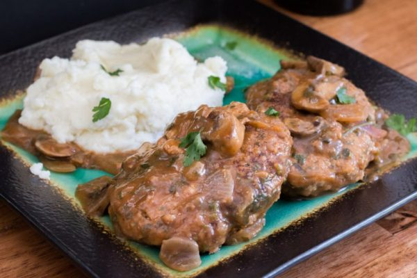 Salisbury Steak from The Bearded Hiker