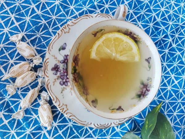 Soothing Lemon and Ginger Tea to help during cold and flu season