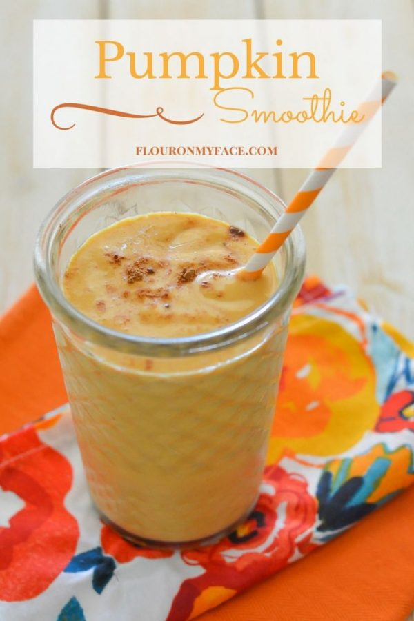 Pumpkin Smoothie Recipe from Flour on My Face