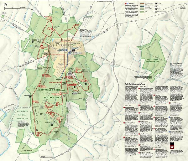 Gettysburg Official Touring Map