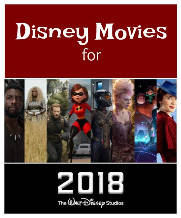 Disney Movies for 2018